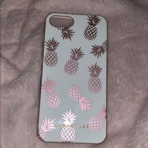 Rose gold and white pineapple phone case
